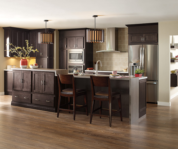 Kitchen Cabinets Nc: Thatch Cabinet Finish On Hickory