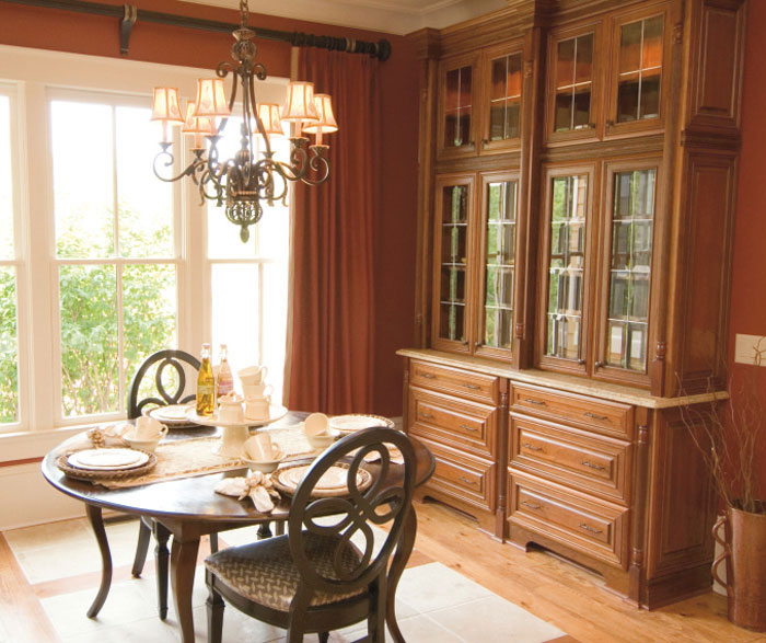 Dining room cabinets by Kemper Cabinetry