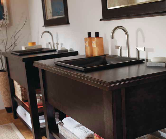 Contemporary bathroom vanities by Kemper Cabinetry
