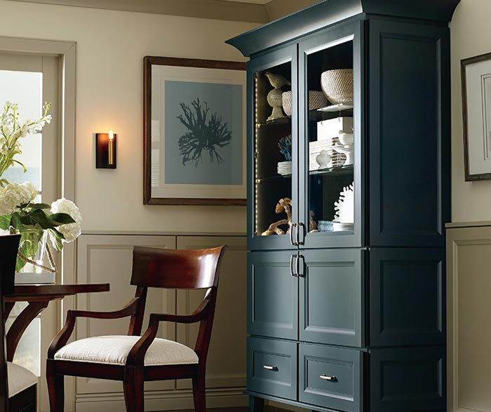 Butler dining room storage cabinet in Maple Maritime finish