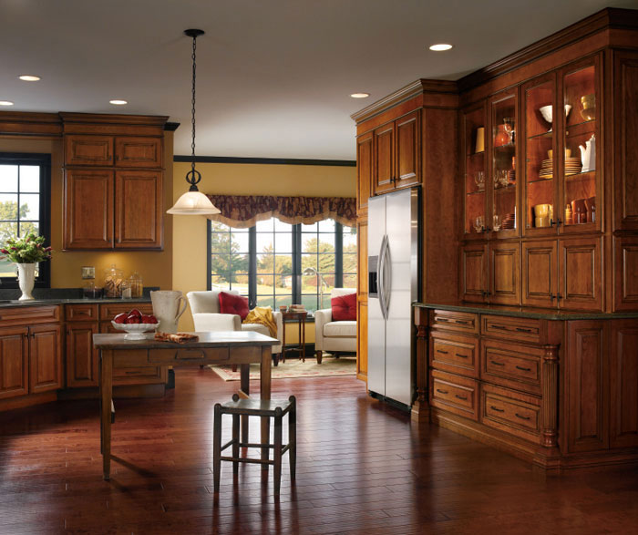 Cherry kitchen cabinets by Kemper Cabinetry